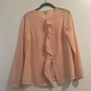 J Crew Factory Blush Button Down Blouse